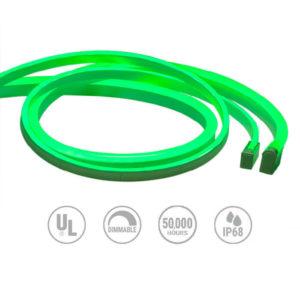 Neon 24V Green LED round lighting