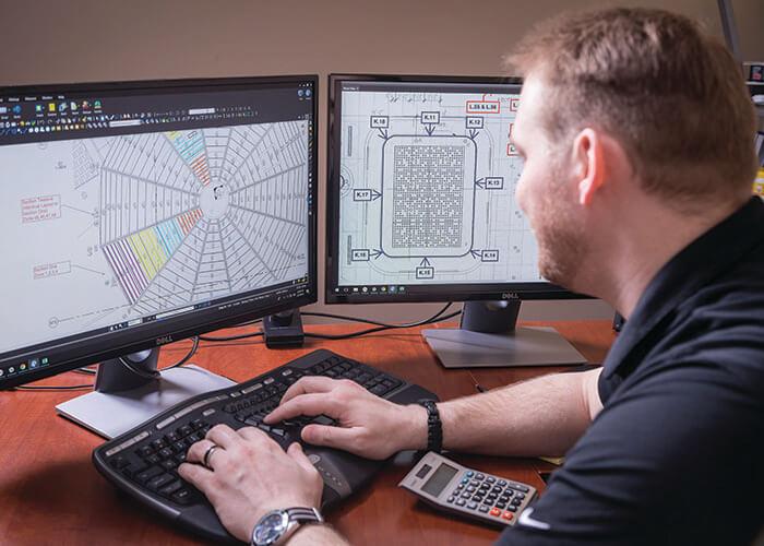 Nova Flex employee designing product layout